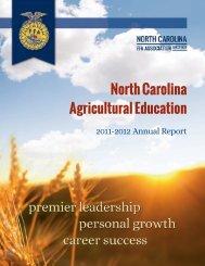 2011-2012 Annual Report - North Carolina Future Farmers of America