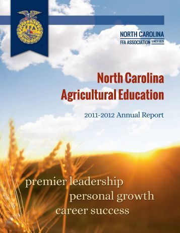 2011-2012 Annual Report - North Carolina Future Farmers of America