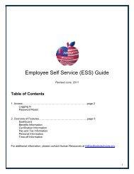 Employee Self Service (ESS) Guide - Washington Elementary ...