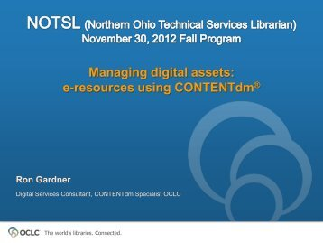 OCLC - The world's libraries. Connected. - NOTSL