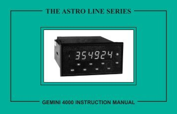 Gemini 4000 Manual PDF - Red Lion Controls