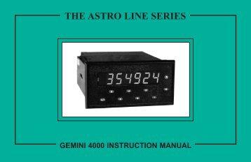 Gemini 4000 Manual PDF - Red Lion Controls