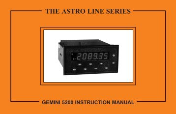 GEMINI 52 Manual 1379KB - Red Lion Controls