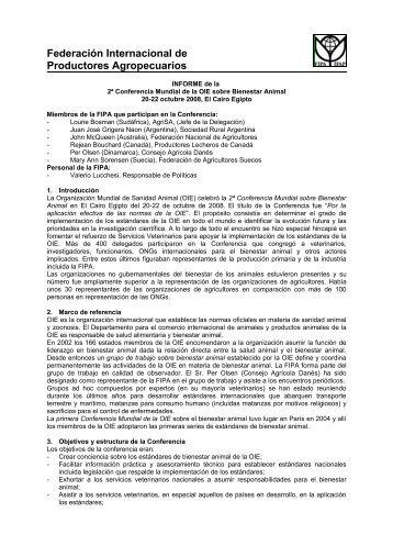 2º Conferencia Mundial sobre Bienestar Animal - Cooperativas ...