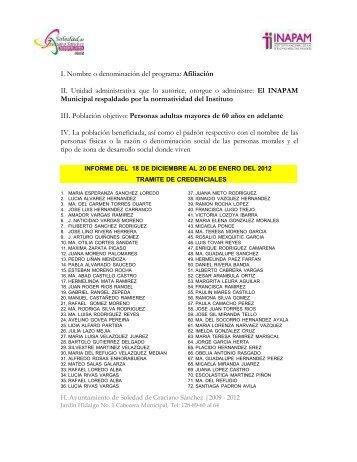 Informe 2012 - Municipio Soledad de Graciano Sanchez