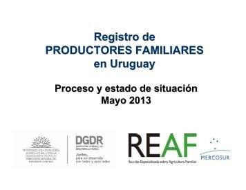Situación actual de la Agricultura Familiar en Uruguay y otras ...
