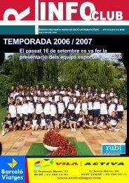 TEMPORADA 2006 / 2007 - Club Natació Rubí