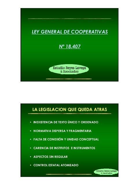 Ley General de Cooperativas - Cooperativas Agrarias Federadas