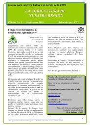 la agricultura de nuestra region - Cooperativas Agrarias Federadas