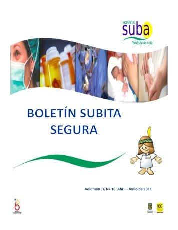 Boletin Subita Segura N° 10 - Hospital Suba