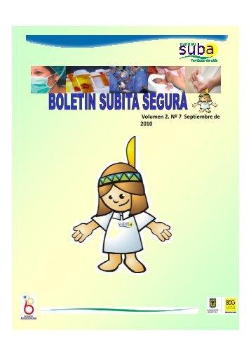 Boletin Subita Segura N° 7 - Hospital Suba