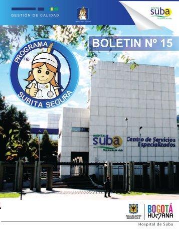 Boletin Subita Segura N° 15 - Hospital Suba
