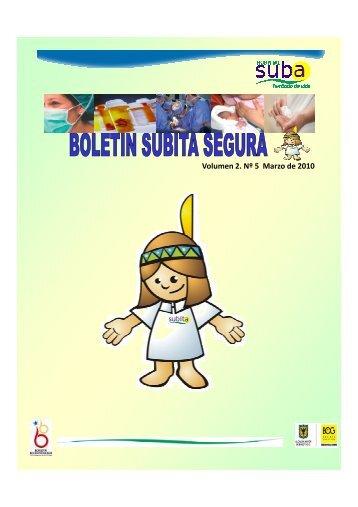 Boletin Subita Segura N° 5 - Hospital Suba