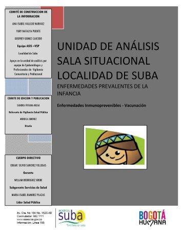 UNIDAD DE ANÁLISIS SALA SITUACIONAL ... - Hospital Suba