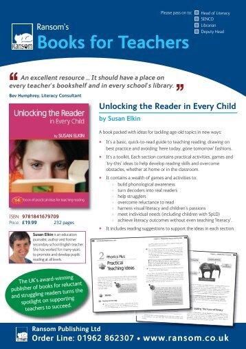Books for Teachers - Ransom Publishing