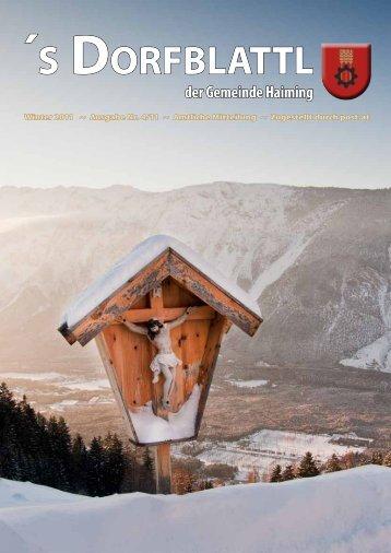 s Dorfblattl - Winter 2011 - Gemeinde Haiming - Land Tirol