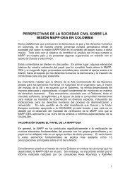 perspectivas de la sociedad civil sobre la misión mapp-oea en ...
