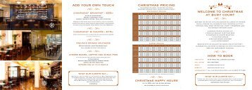 christmas at bury court how to book add your own touch ... - Net