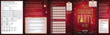 christmas pricing add your own touch daytime disco - Net