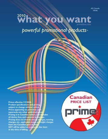powerful promotional products™ - Prime Line