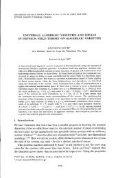 universal algebraic varieties and ideals in physics:field theory on ...
