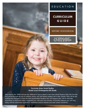Historic Schoolroom.indd - The Durham Museum
