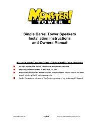 Monster Tower Double Barrel Speaker Installation