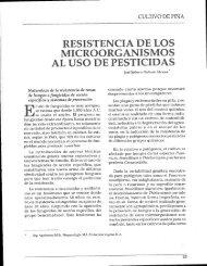 RESISTENCIA DE LOS AL USO DE PESTICIDAS - Corpoica