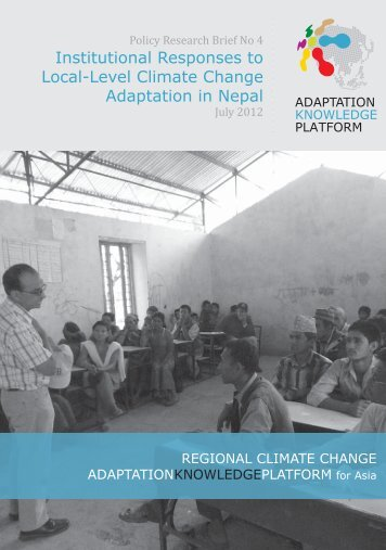 Institutional Responses to Local-Level Climate Change Adaptation ...