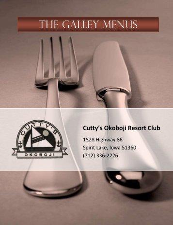 THE GALLEY MENUS - Cutty's Okoboji Resort Club