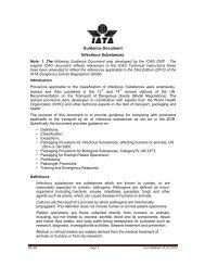 Guidance Document Infectious Substances