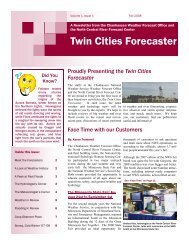 Twin Cities Forecaster - Central Region Headquarters - NOAA