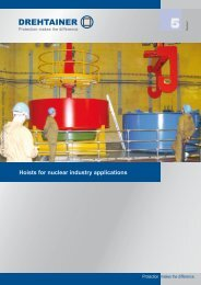 Hoists for nuclear industry applications - Drehtainer GmbH