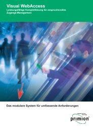 Visual WebAccess - primion Technology AG