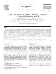 Cost-based analysis of quality in developing countries: a case study ...