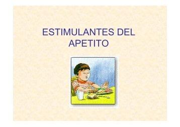 ESTIMULANTES DEL APETITO
