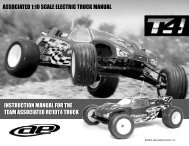 INSTRUCTION MANUAL FOR THE TEAM ASSOCIATED RC10T4 ...