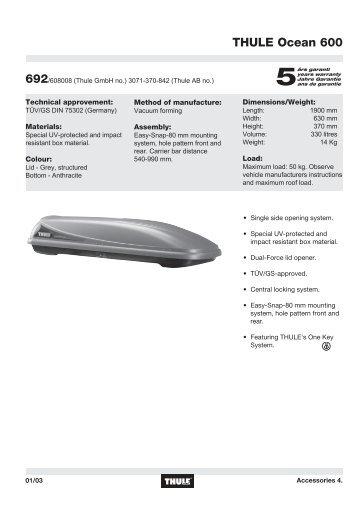 thule polar 500 684. Black Bedroom Furniture Sets. Home Design Ideas