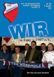 Nr. 103 II. Quartal 2011 Nr. 103 II. Quartal 2011 - TSG Nordholz