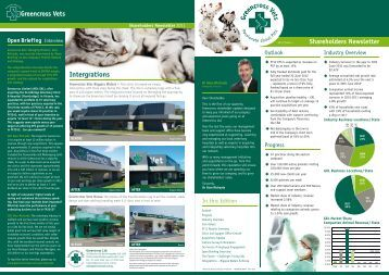 Shareholder Newsletter - Issue 1 - Greencross Vets