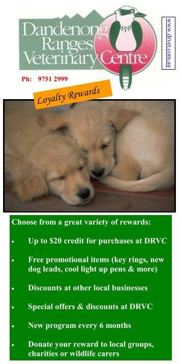 Download our Loyalty Program brochure - Dandenong Ranges ...