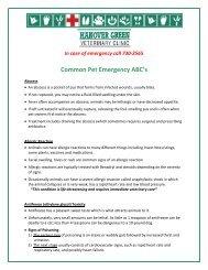 Common Pet Emergency ABC's - Hanover Green Veterinary Clinic