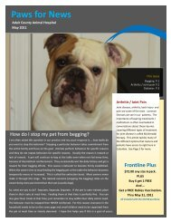 May 2011 Newsletter - Adair County Animal Hospital