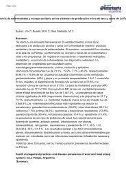 Prevalencia de enfermedades y manejo sanitario en los sistemas de ...