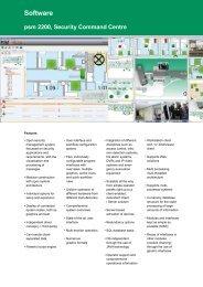 Software Psm 2200, Security Command Centre - primion ...
