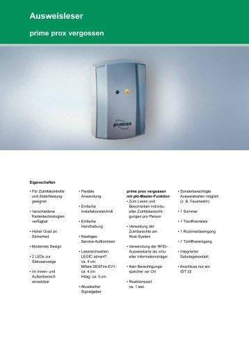 Ausweisleser prime prox vergossen - primion Technology AG