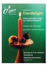 Candlelight Internationale Lieder zur Weihnachtszeit