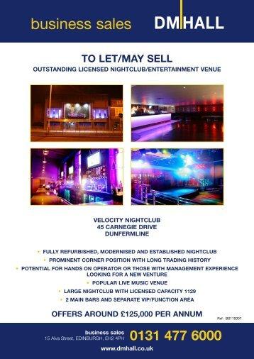 VELOCITY NIGHTCLUB - DM Hall