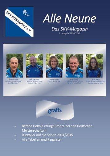 Alle Neune, Ausgabe 3 - 2014/2015