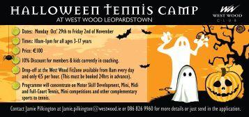 Halloween DL Visual - West Wood Health Club Dublin